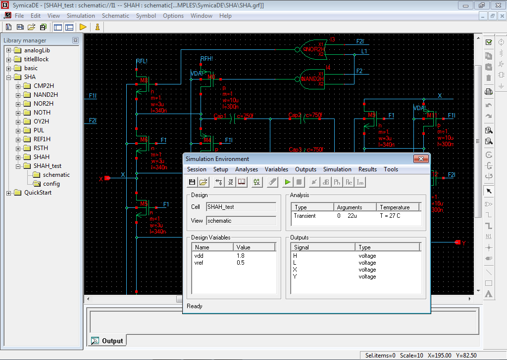 symica de  u2014 circuit design environment
